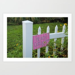 Beach Cottage Art Print