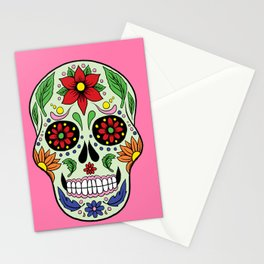 Colorful Skull VII Stationery Cards