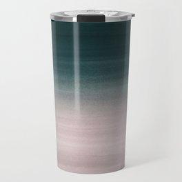 Touching Teal Blush Watercolor Abstract #1 #painting #decor #art #society6 Travel Mug