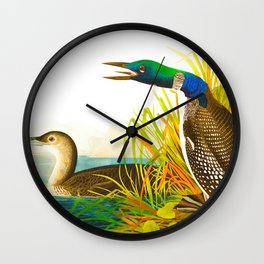 Great Northern Diver or Loon Wall Clock