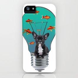 French Bulldog - light Bulb - goldfishes iPhone Case