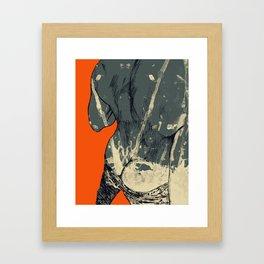 Cash Only Framed Art Print