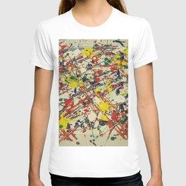 Jackson Pollock, digitally modified, fine art decor and clothing T-shirt