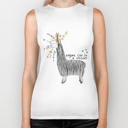 Anyone can be a unicorn...all you need is some creativity. Or a carrot if you're actually a llama. Biker Tank