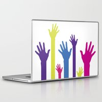 hands Laptop & iPad Skins featuring Hands by Sitchko Igor