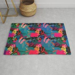 Papercut Floral Dark Rug