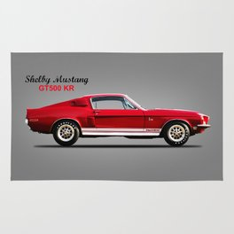 The Shelby Mustang GT500 KR Rug
