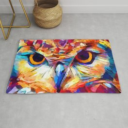 Owl Watercolor 2 Rug