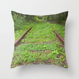 Forgotten Railway Throw Pillow