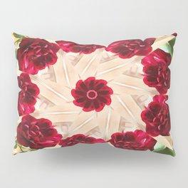 Old Red Rose Kaleidoscope 13 Pillow Sham