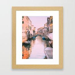 Pink Canal in Venice Fine Art Print Framed Art Print
