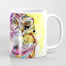 Neon Northern Pygmy Owl Coffee Mug
