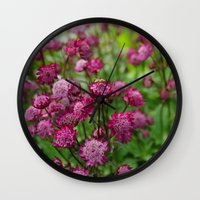 flower of life Wall Clocks featuring Life by Frenchie1108