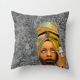 Kween Badu Throw Pillow