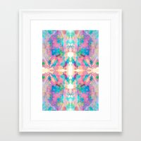 mirror Framed Art Prints featuring Mirror by Amy Sia