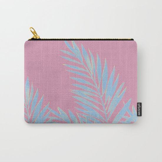 Palm Leaves Blue And Pink by lavieclaire
