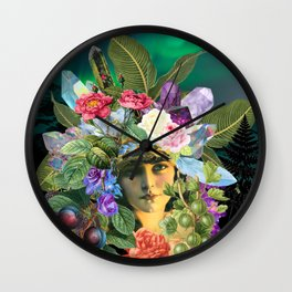 Goddess of the Northern Lights Wall Clock