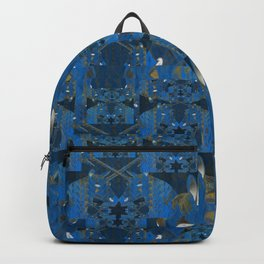 Blue Indigo Unicorn Fractal Backpack
