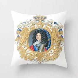 King Louis XIV Throw Pillow