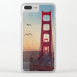 GOLDEN GATE RAIN - San Francisco Clear iPhone Case
