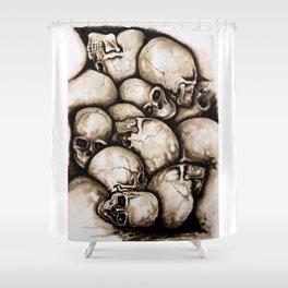 Skulls sepia Shower Curtain