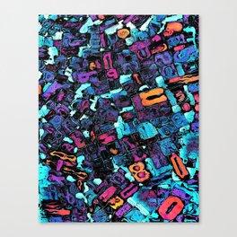 Pop Art Typeset Canvas Print