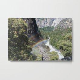 Rainbows by the Water Metal Print