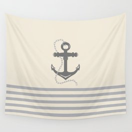 AFE Gray Anchor and Chain Wall Tapestry