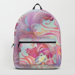 Pastel Fish Drawn Backpack