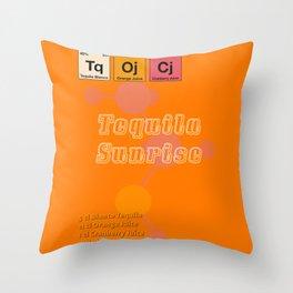 Tequila Sunrise Throw Pillow