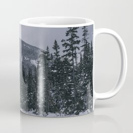 Winter at Lonesome Lake in the White Mountains Coffee Mug