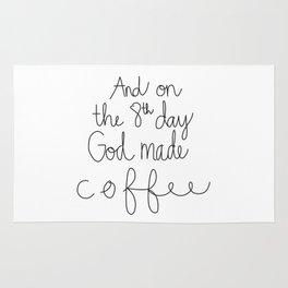 God Made Coffee Rug