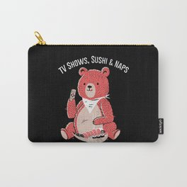 TV Shows, Sushi & Naps Carry-All Pouch