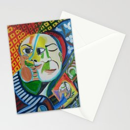 Picasso se peint Stationery Cards