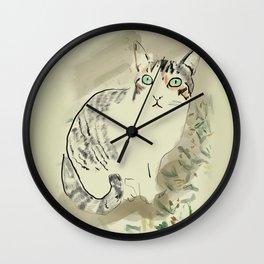 A cute kitten named Kiwi Wall Clock