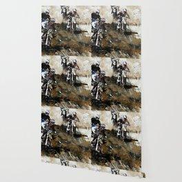 """Dare to Race"" Motocross Dirt-Bike Racers Wallpaper"