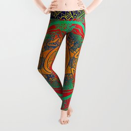 Aztec Sun God Leggings