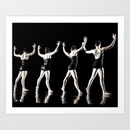 Rehearsal - Dancer Series 2 Art Print