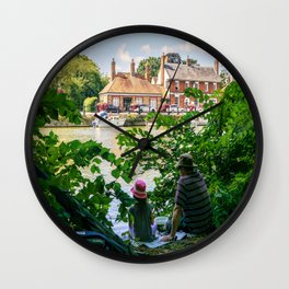 Gone fishing. Wall Clock