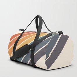 Arida -  70s Summer Style Retro Stripes Duffle Bag