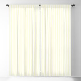 Large Vertical Pastel Lemon Yellow Princess Elizabeth Regal Stripe Blackout Curtain
