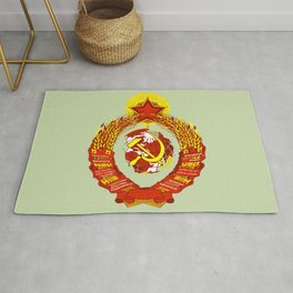 STATE OF THE EMBLEM OF THE  SOVIET UNION  Rug