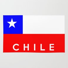 Chile country flag name text Rug