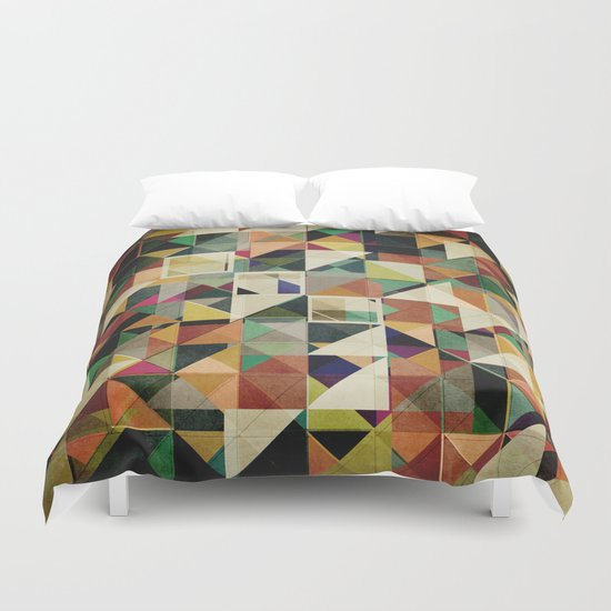 Earth Tones Abstract Duvet Cover