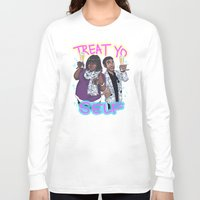 treat yo self Long Sleeve T-shirts featuring Treat Yo Self by enerjax