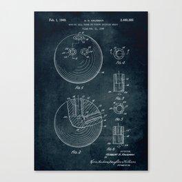 1948 - Bowling ball patent art Canvas Print