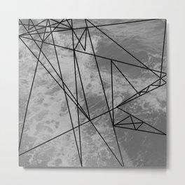 GEOMETRIC LINE GRAPHIC Metal Print