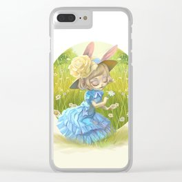 Susy in the daisies field Clear iPhone Case