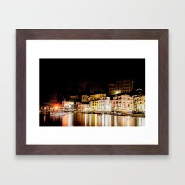 Sorrento at night Framed Art Print
