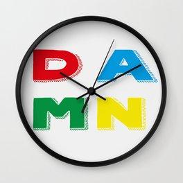 DAMN Wall Clock